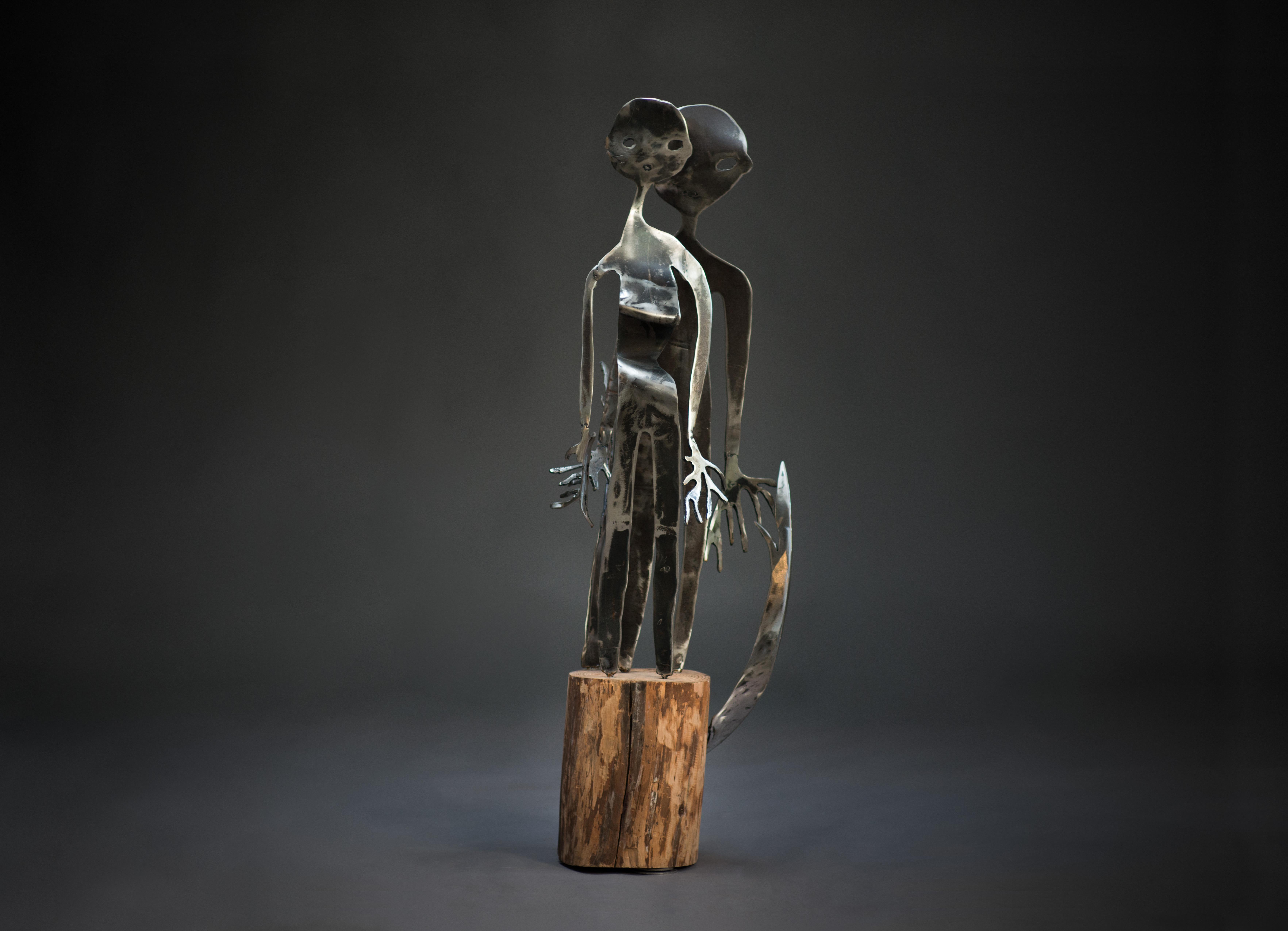 The sky roots - Haude Bernabé, 21st Century, Contemporary metal sculpture