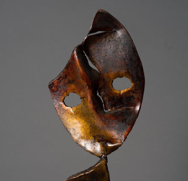 Eclipse - Haude Bernabé, 21st Century, Contemporary metal sculpture, figure - Gray Abstract Sculpture by Haude Bernabé
