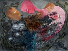 Strangers - Haude Bernabé, 21st Century, Contemporary Figurative Drawing