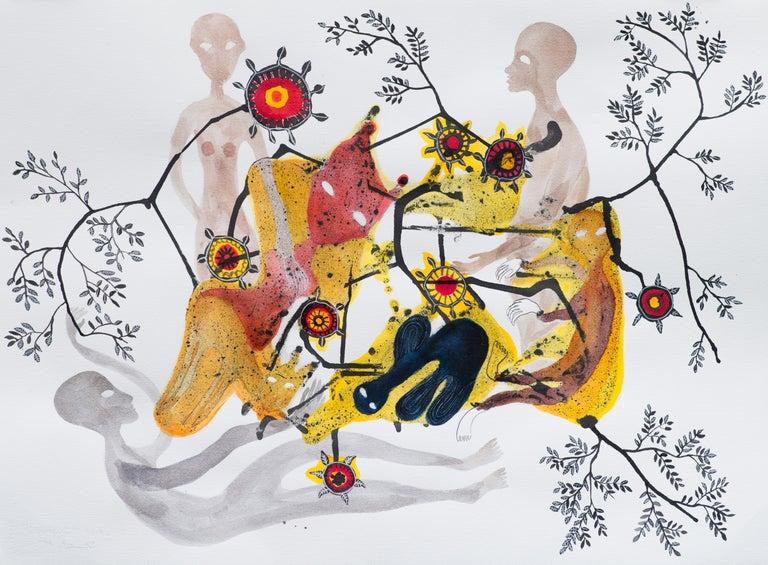 Synapses - Haude Bernabé, 21st Century, Contemporary Figurative Drawing - Art by Haude Bernabé
