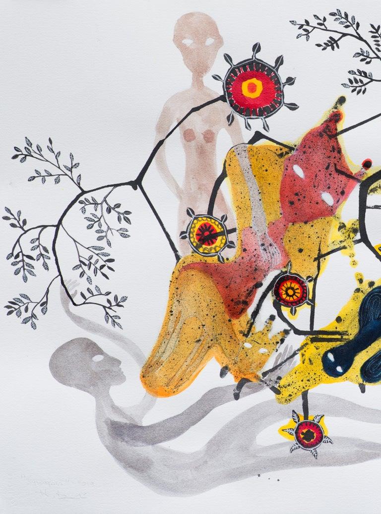 Synapses - Haude Bernabé, 21st Century, Contemporary Figurative Drawing - Outsider Art Art by Haude Bernabé