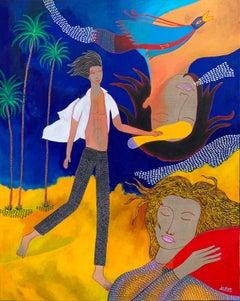 The dream - Julien Calot, 21st Century, Contemporary figurative painting