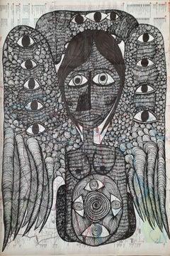 Untitled - Samaneh Atef, 21st Century, Contemporary figurative Iranian art, draw