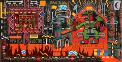 Africa Electric TV - Philippe Jacq, 21st Century, Contemporary painting