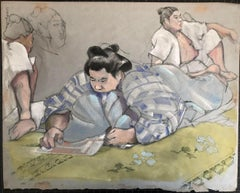 Lynn Matsuoka, SUMO GRAND CHAMPION CHIYONOFUJI, Reading in the Dressing Room