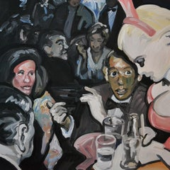 Bunny - Expressive Contemporary Figurative Oil Painting, Nightclub Scene
