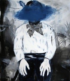 Blue - Contemporary Expressionism Painting, Male, Boy Portrait, Realism