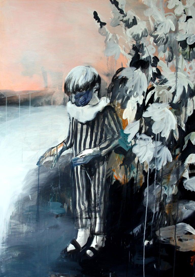 Hanna Ilczyszyn Figurative Painting - Boy in the Garden