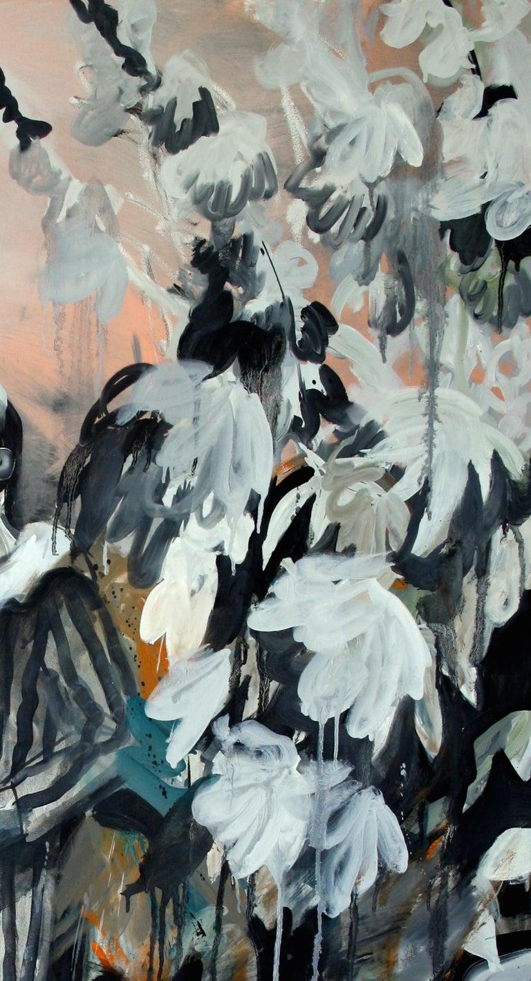 Boy in the Garden - Painting by Hanna Ilczyszyn