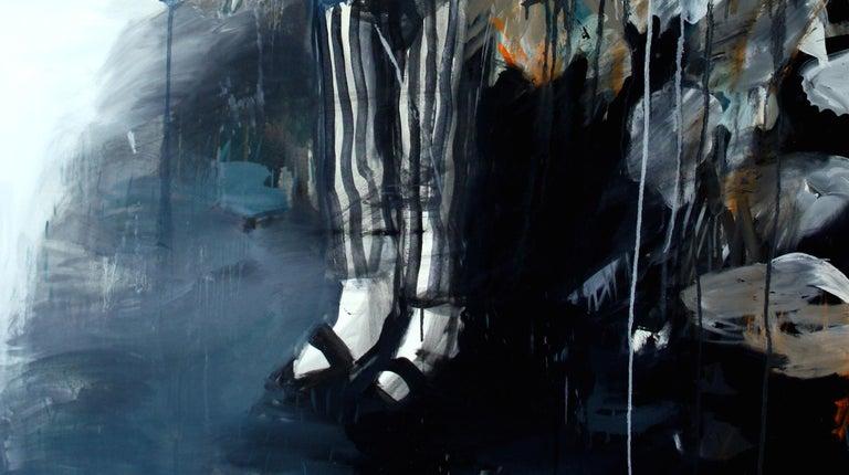 Boy in the Garden - Contemporary Painting by Hanna Ilczyszyn