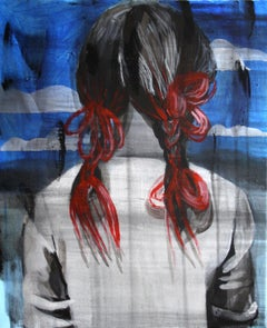 Back - Expressionism, Contemporary Figurative Painting, Girl Portrait