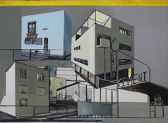 """""""Collage"""" Large Format Painting - Modern Architectural Painting, Modernism"""