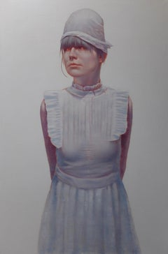 She Was Born In A Silver Spoon -  Large Format Painting, Photorealistic Painting