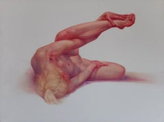 Configuration II - Figurative Realism Oil Painting, Female Nude, Lying Woman