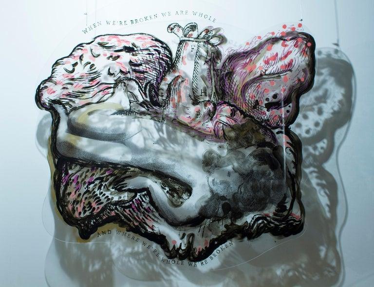 Heart IV - Spatial Installation Object - Mixed Media Art by Katarzyna Swinarska