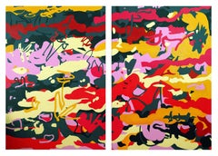 """Diptych -  """"Notes On A Scandal"""" - Joyful, Expression, Pop, Street Art, Abstract"""