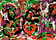 """The Birth of Venus"" - Abstraction, Expression, Pop, Street Art, Joyful"