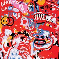 Whats Up II  - Abstraction, Expression, Pop, Street Art, Energetic, Joyful