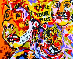 """""""Take Your Pills"""" - Abstraction, Expression, Pop, Street Art, Energetic, Joyful"""
