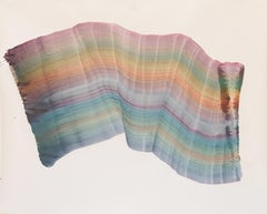 Untitled 13 - Contemporary Abstract Painting, Textile Lightness, Pastel Colors