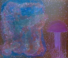 Jellyfish - Contemporary Figurative Animals Oil Painting, Magical Realism