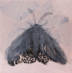 Moth IV, Composition with Insect - Contemporary Figurative Oil Painting, Animals