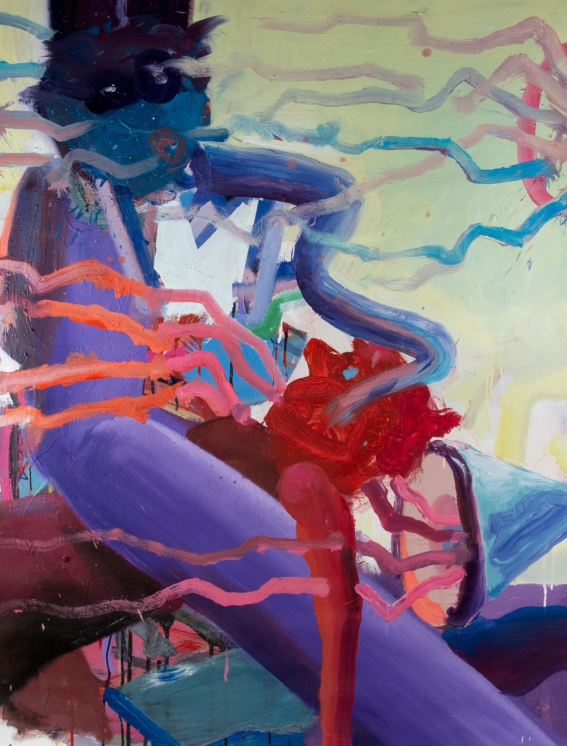To Loud - Expressionism Painting, Contemporary Figurative Oil Painting