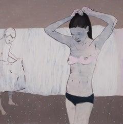 Untitled V - Original Oil Female Portrait Painting,  Contemporary, Figurative