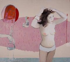 Untitled VI - Original Oil Female Portrait Painting,  Contemporary, Figurative