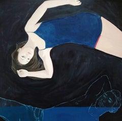 Untitled VII  - Original Oil Female Portrait Painting,  Contemporary, Figurative