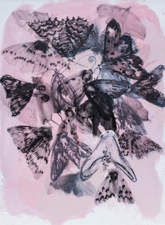 Skin IV - Wonderful Night Butterflies Painting - Contemporary Painting