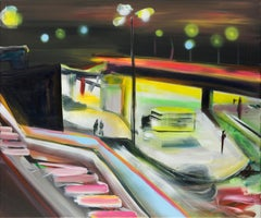 Light Will Guide You 2  -  Modern, Expressionism, Cityscape Painting, Colorful