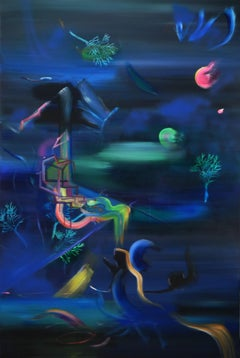 Night Air Fills My Soul with Kindness - Expressionism, Underwater Sea Landscape