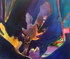 Dark Forest - Expressionism, Underwater Sea Landscape, Seascape, Abstract