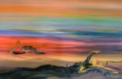 Desert Dunes -  Modern, Expressionism, Landscape Painting, Abstract, Colorful