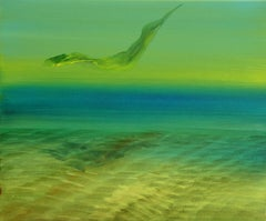 Flying - Contemporary Expressionism, Underwater, Water, Modern Sea Landscape