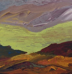 Xonrupt 3 - Expressive Landscape Painting, Warm Colours, Nature, Mountains View