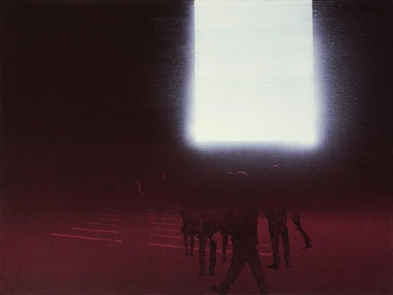 Wiktor Jackowski Abstract Painting - Billboard 3 - Modern Oil Painting, Realism, Minimalism, Night Light, Street Art