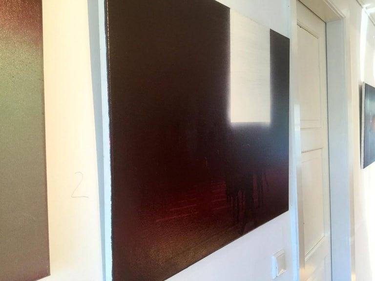 Billboard 3 - Modern Oil Painting, Realism, Minimalism, Night Light, Street Art For Sale 1