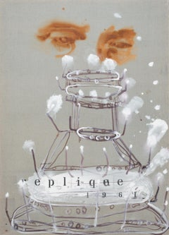 1961 Réplique - Contemporary Figurative Painting, Dada Art, Modern Portrait