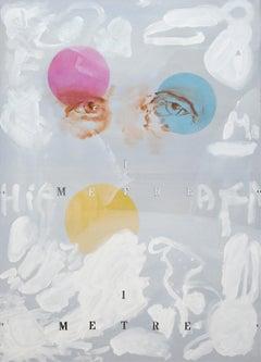 7, 1 Metre - Contemporary Figurative Painting, Dada Art, Modern Portrait, Pop
