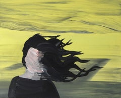 Steppe Soul II, Modern Figurative Painting, Expressive Landscape, Woman Portrait