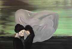 Coexistence 3 - Modern Figurative Painting, Expressive Landscape, Women Portrait