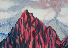 Untitled  ( Mountains ) - Contemporary Painting, Expressive Landscape