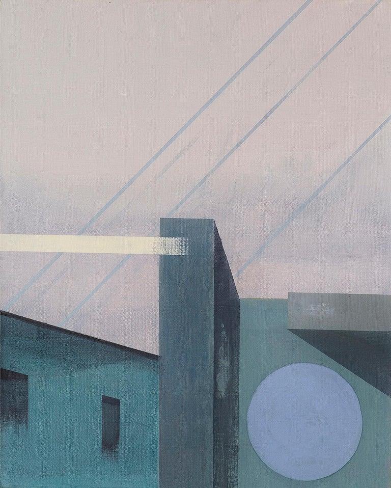 Monika Stolarska Landscape Painting - Untitled - Contemporary Painting, Architectural Painting, Modernistic, Bauhaus