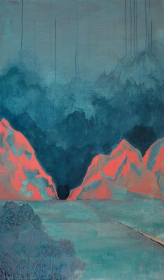 Untitled ( Atmospheric Landscape 2 ) - Contemporary Painting, Green Forest View