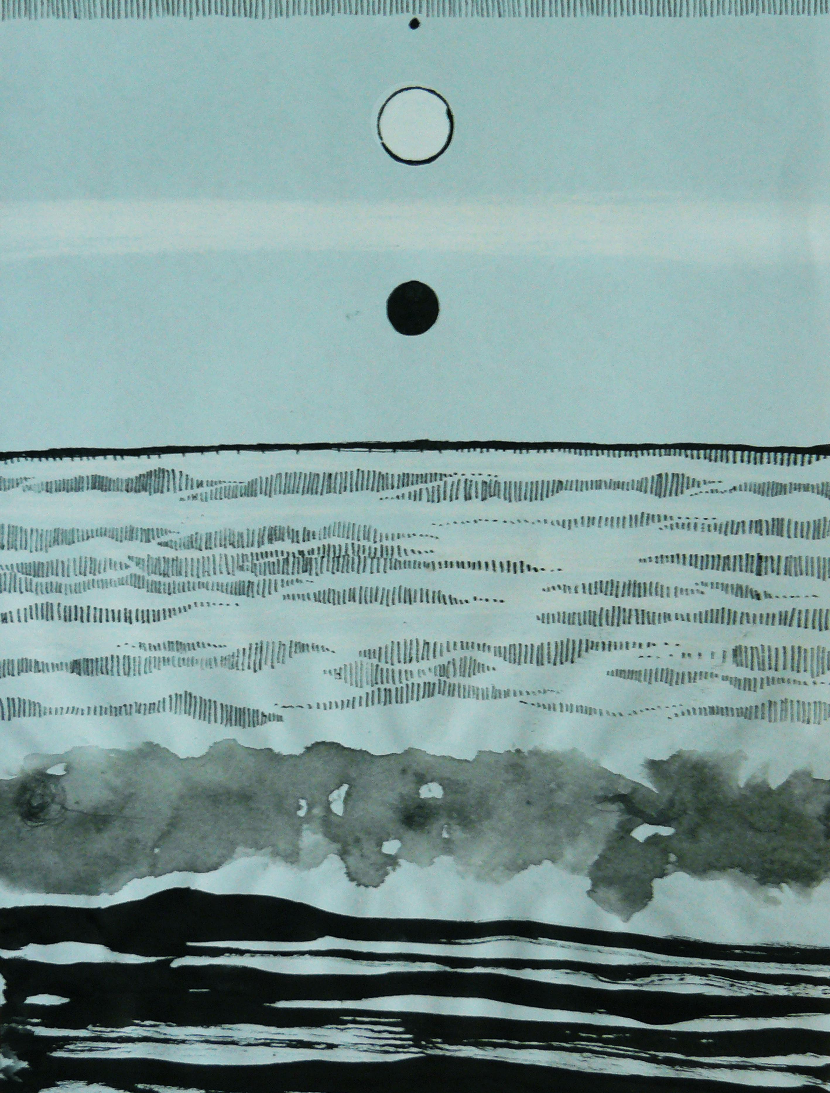 Untitled - Abstract Contemporary Landscape, Seascape Painting