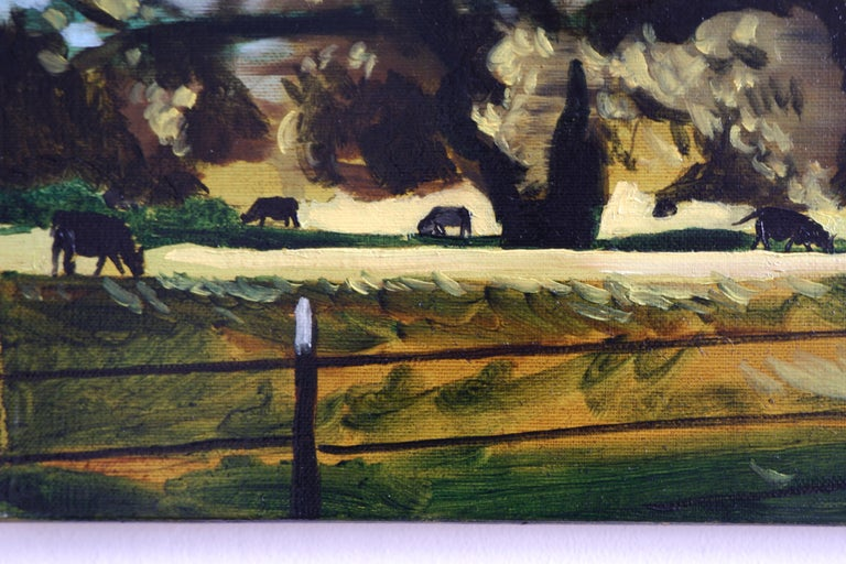 A PASTURE - from the series: MADE IN USA, Expressive Landscape Oil Painting   For Sale 1