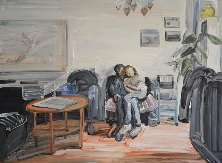 Bartosz Kolata Portrait Painting - Ewa and Grzes - Couple Portrait, Contemporary Expressive Figurative Oil Painting