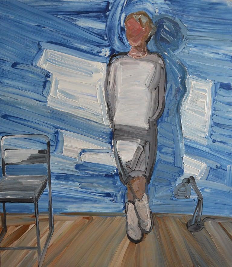 Bartosz Kolata Figurative Painting - Ewa  - Woman Portrait, Contemporary Expressive Figurative Oil Painting